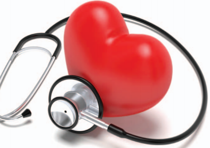 Stethoscope and a heart
